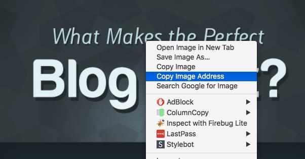 Copy Image Adddress