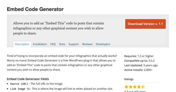Embed Code Generator