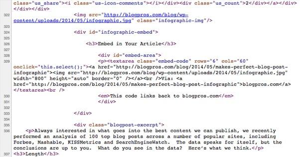 Embed Code HTML