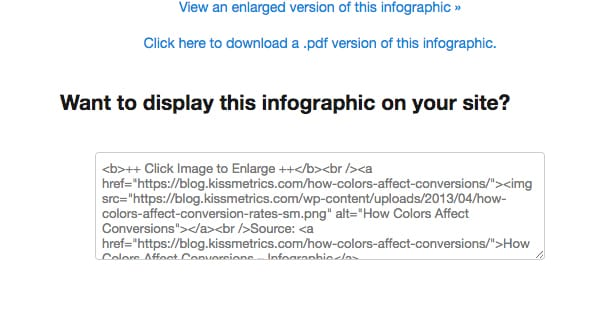 Infographic Embed Code Example