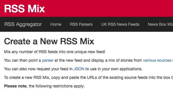 RSS Mix Website