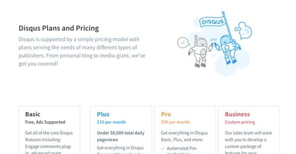 Disqus Pricing
