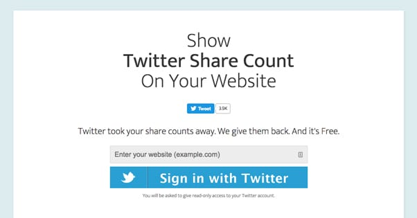 Twitter Share Count