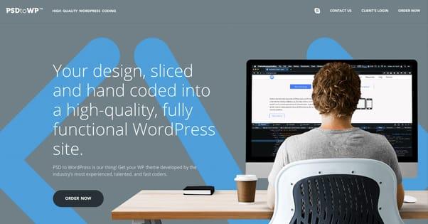PSD to WP Website