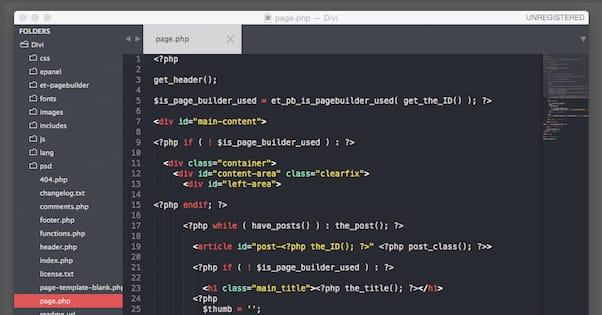 Photoshop Code WordPress Template