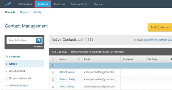Constant Contact List