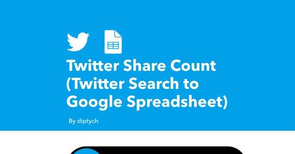 IFTTT Twitter Shares
