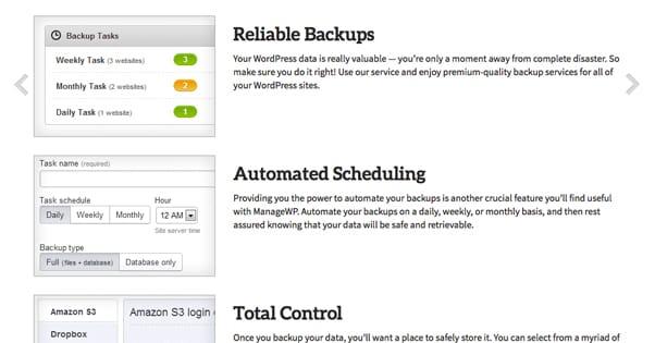 Backups ManageWP