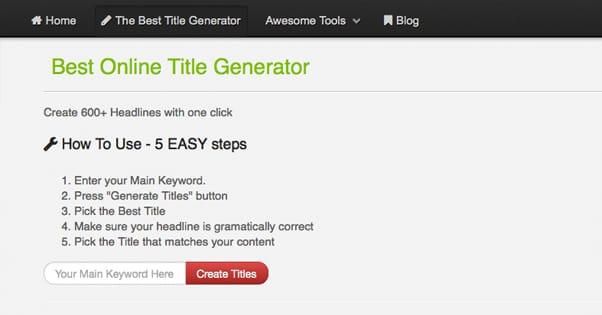 Best Online Title Generator
