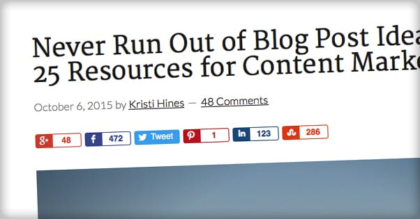 50 Ways to Get More Social Shares on Your Blog Posts