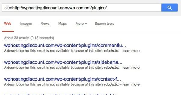 Google Search Plugin List