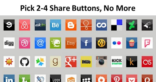 Too Many Share Buttons