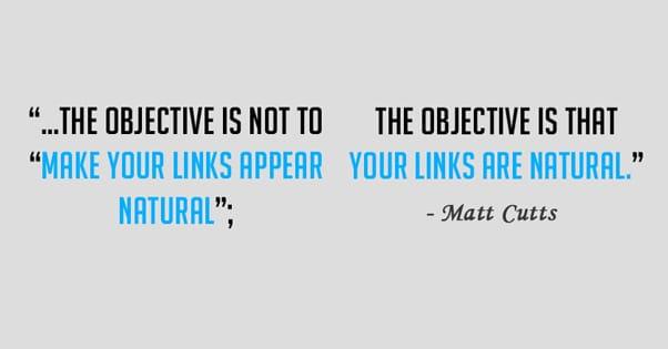 Matt Cutts Natural Links