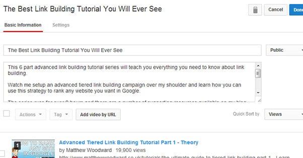 Edit YouTube Description