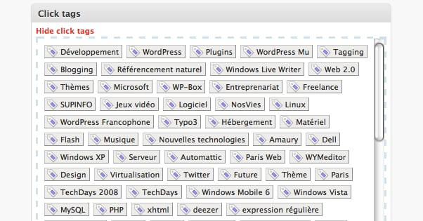 how to add tag cloud in wordpress