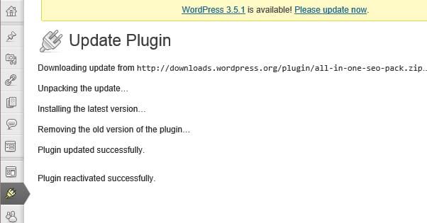 Wordpress Updating a Plugin