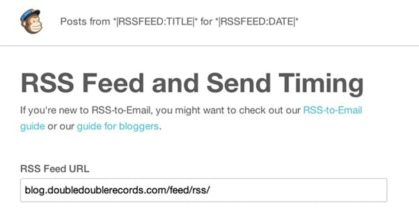 Email to RSS Mailchimp