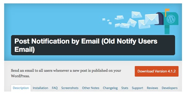 Post Notification by Email WordPress