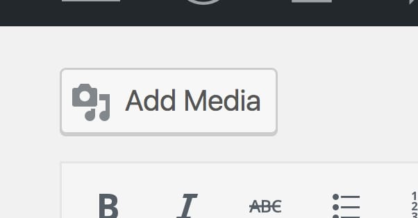 Add Media WordPress Button
