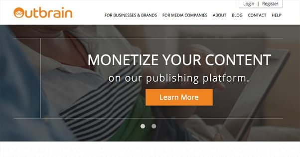 Outbrain Homepage