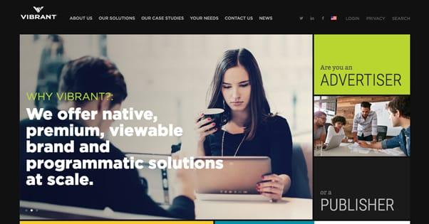 Vibrant Homepage