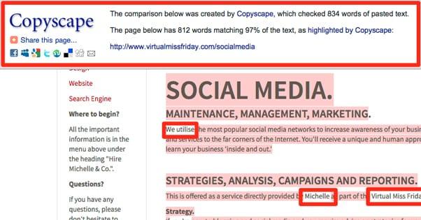 Stolen Page Copyscape
