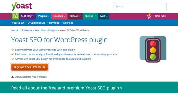 Yoast Premium Homepage