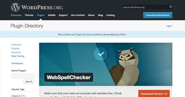 WebSpellChecker Plugin
