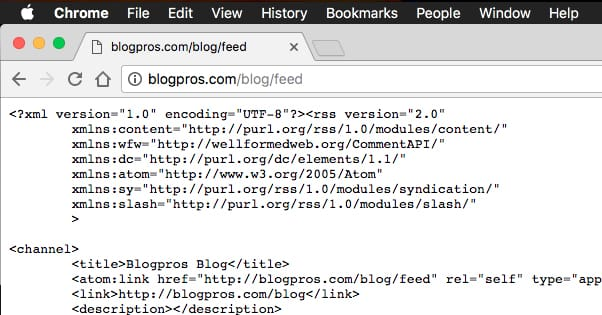 Blog Feed RSS Example