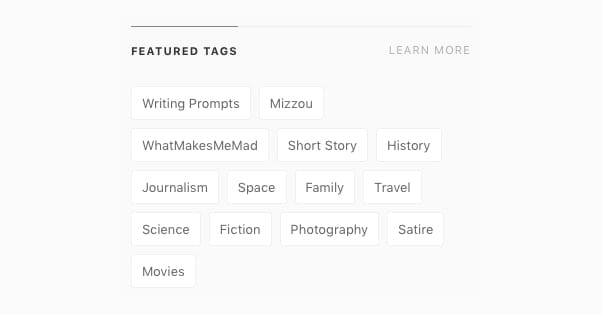 Featured Tags