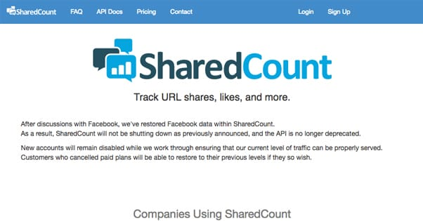SharedCount Not Shutting Down