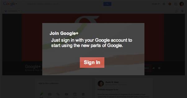 Join Google Plus Notification