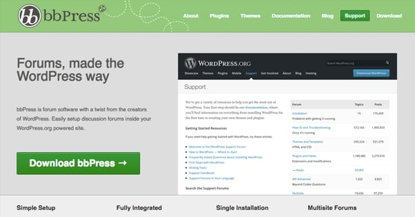 BBpress for WordPress