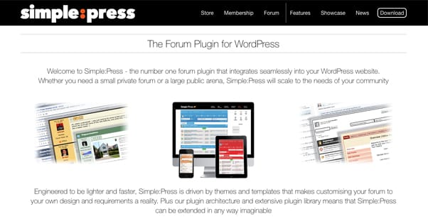 Simple Press Homepage