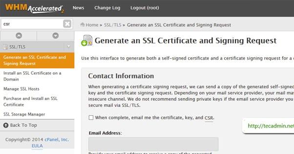 WHM Access SSL