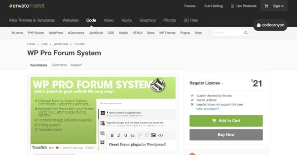 WP Pro Forum System