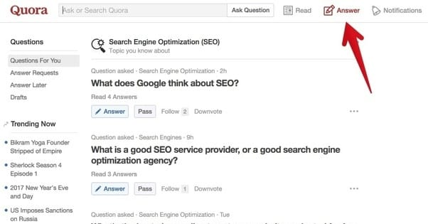 Quora Links for Your Blog