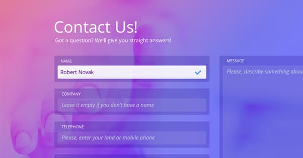 Example Contact Page