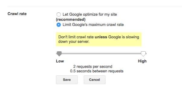 Google Crawling Rate