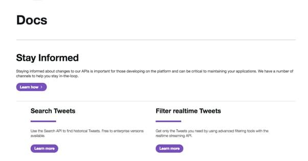 Twitter API Docs