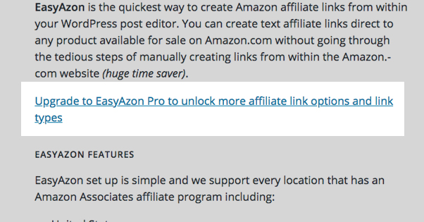 EasyAzon Limitations