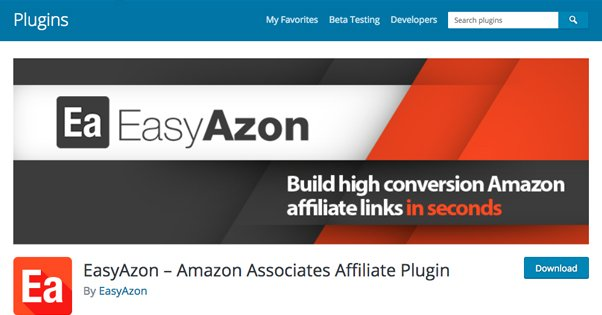EasyAzon Plugin in WordPress Repository