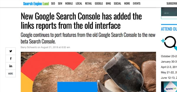 Search Console Old Interface
