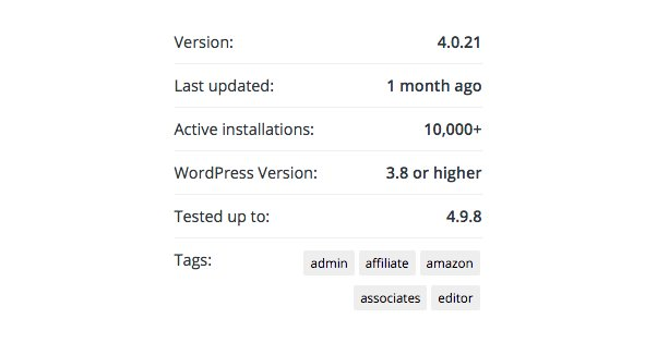 Wordpress Version and Download Stats