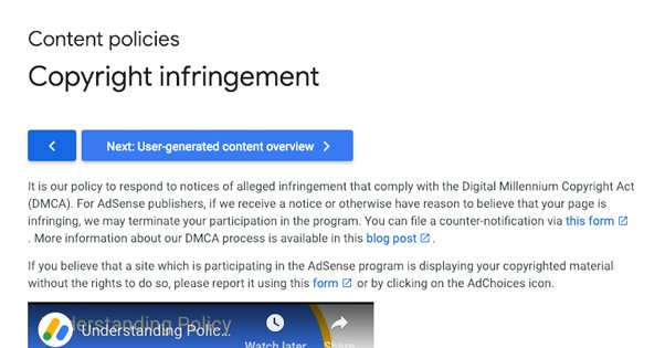 Copyright Infringement on AdSense