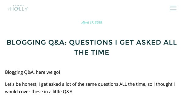 Blogging Q and A