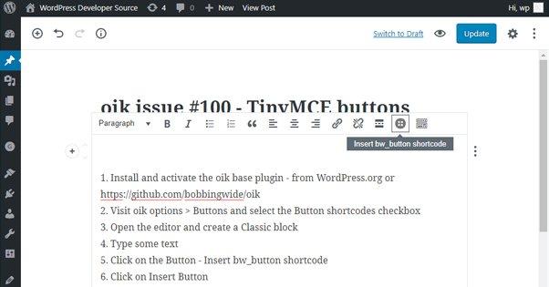Classic WordPress Block