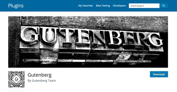 Gutenberg Official Plugin