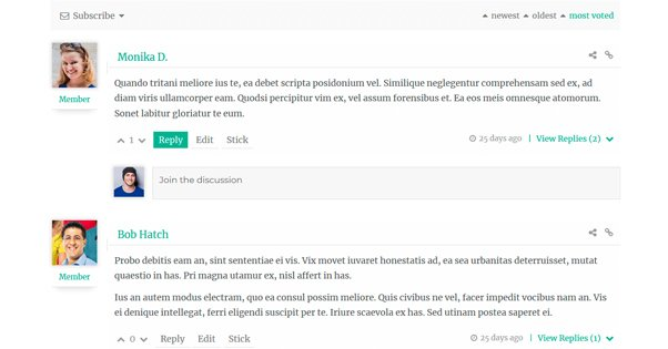WPDiscuz Screenshot