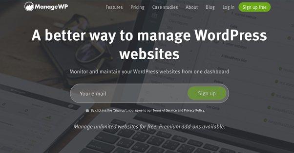 ManageWP Homepage